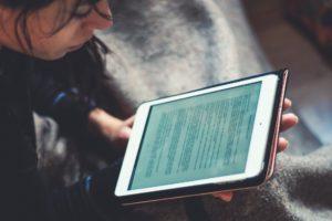 Tablet reading